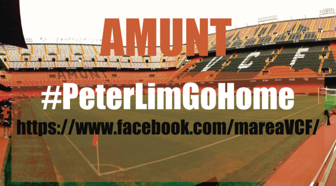 THE CAMPAIGN IN CHANGE.ORG DE MAREA VALENCIANISTA EXCEEDS 3,500 PETITIONS TO PETER LIM TO SELL AND GO
